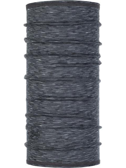 Buff Lightweight 3/4 Merino Wool Neck Tube Stone Grey Multi Stripes
